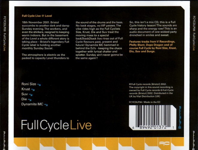Various Artists - Full Cycle Live