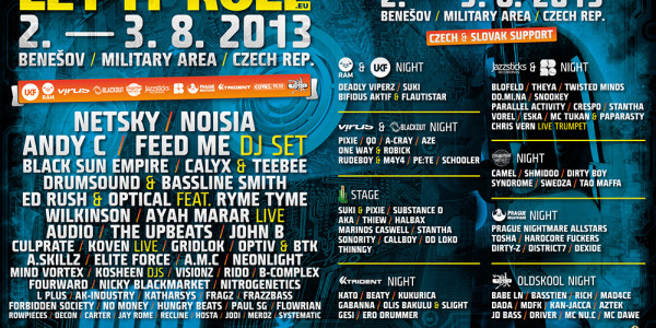 Black Sun Empire / Katharsys / Andy C @ Let It Roll Festival, Czech Republic (2013-08-02/03)