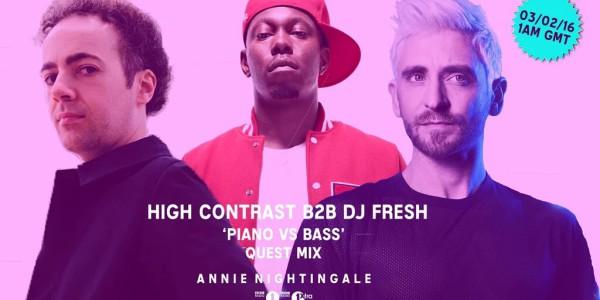 High Contrast B2B DJ Fresh - Piano vs Bass Quest Mix (2016-02-03)