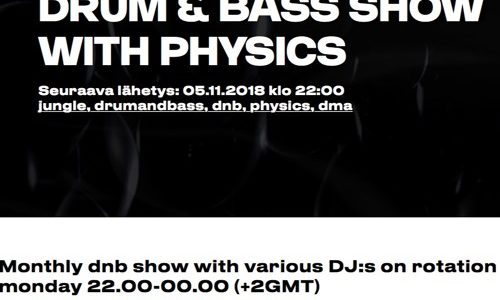 Drum & Bass show with Physics - November (2018/11/06)