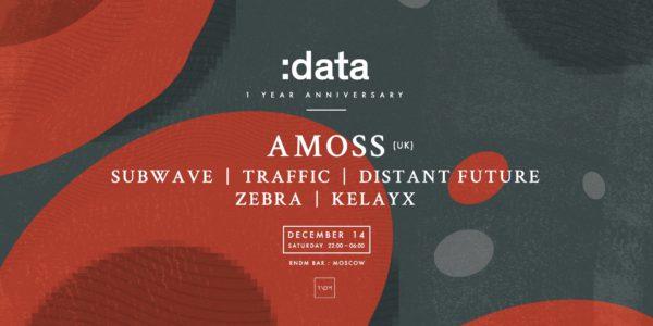 ft. Amoss (UK), Subwave, Traffic, Distant Future, Zebra, Kelayx